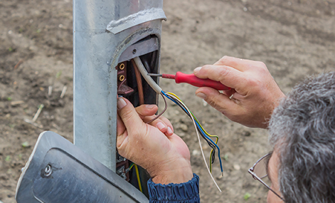 Connecting a private power pole- level 2 asp qualified